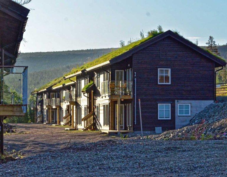 Budowa  25 domów mieszkalnych w ośrodku narciarskim, Stoten,  Szwecja