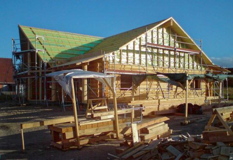 Budowa domu z bali w Danii