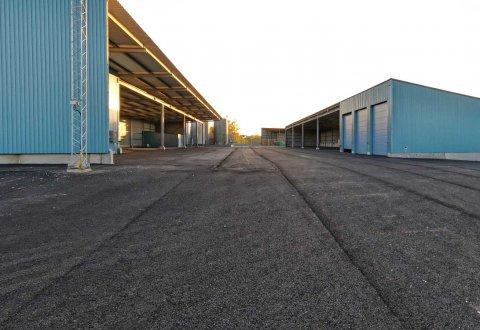Budowa hal stalowych i przebudowa biur, Kallinge, Szwecja